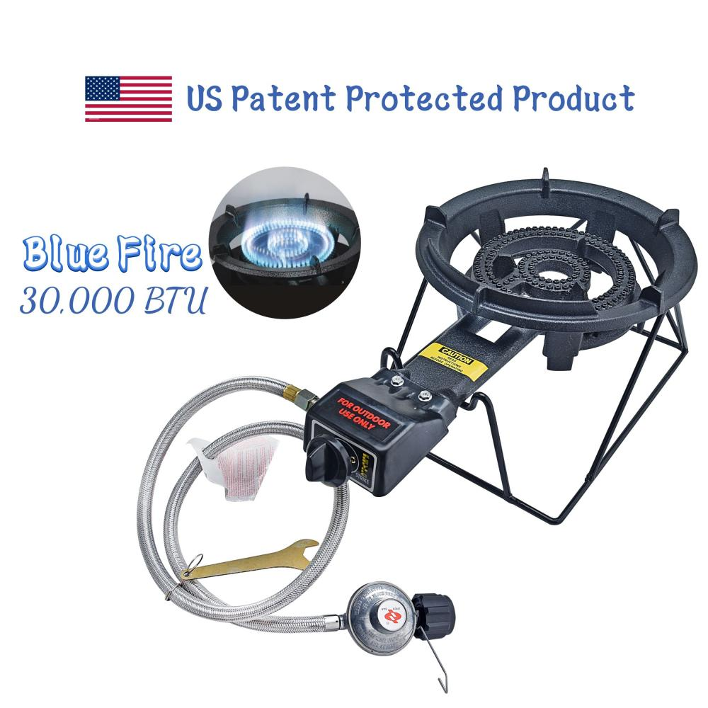 30,000 BTU Outdoor Cast-Iron Propane Burner