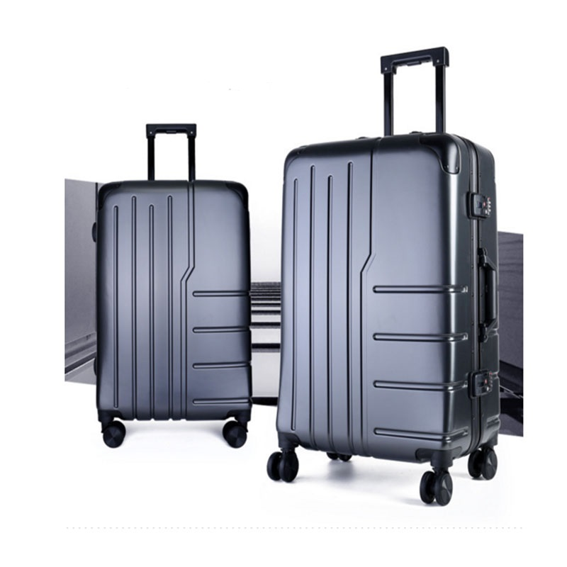 Gray PC luggage