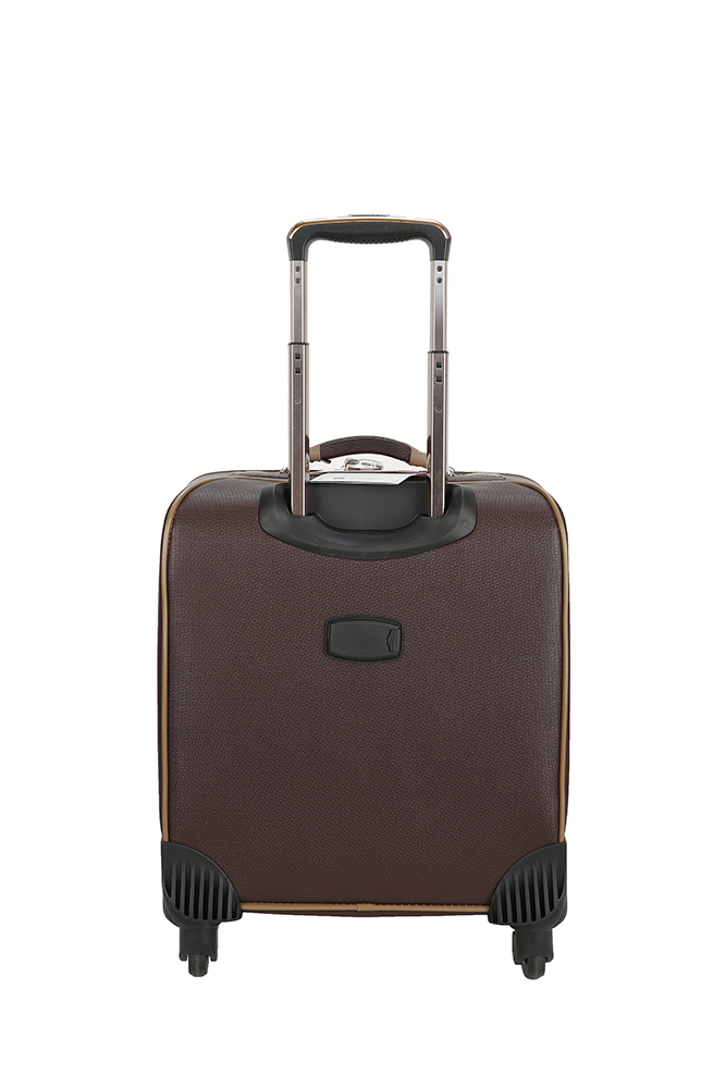 super quiet brown PU luggage case