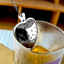 Heart Shape Stainless Steel Tea Infusers Strainer Herb Spice Leaf Filter Party Kitchen Tools