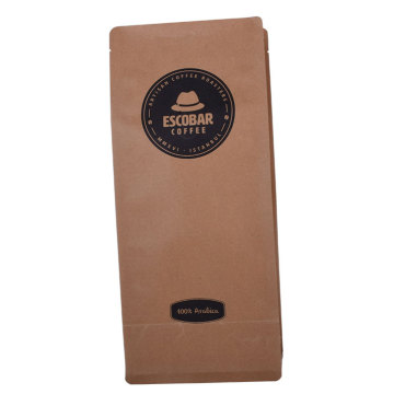 Custom Printed Biodegradable Compostable Pla Kraft Paper Flat Bottom Pouch