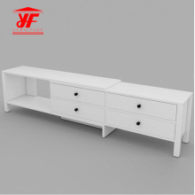 Sapce Saving Adjustable Wood TV Table Set Design