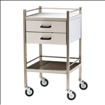 Stainless steel hospital medicine trolley