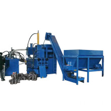 Horizontal Steel Chips Scraps Briquette Block Making Machine