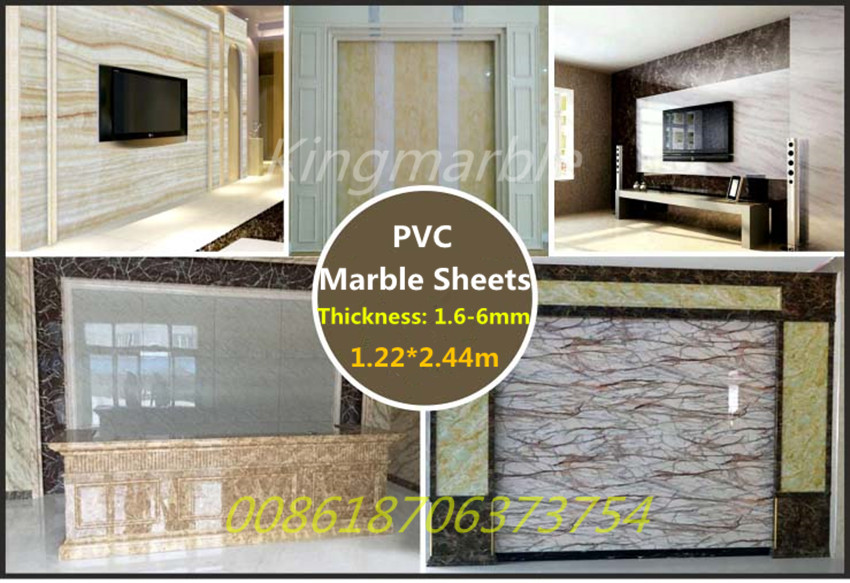 high quality plastic pvc marble sheet