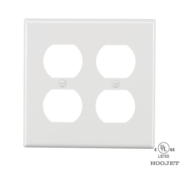 UL American standard  2 Receptacle Cover Plate