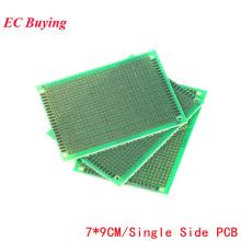 5pcs 7x9 7*9 Single Side Prototype PCB DIY Universal Printed Circuit PCB Glass Fiber Universal Board Green Oil Epoxy Protoboard