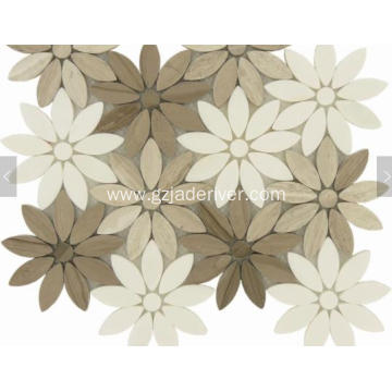 Beauty Flower Marble Mosaic Tile