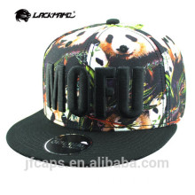 embroidery colorful printing cotton snapback hiphop flat cap