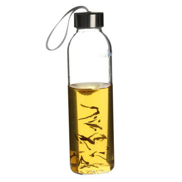 Safe carrying pyrex glass water bottle for kids