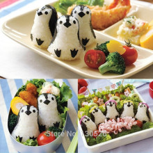 Cute DIY Cooking Kitchen Gadgets Sushi Tools penguins Onigiri Molds kawaii Sushi Tools Rice Ball Cutter Kitchen Accessories