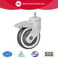 Threaded Swivel TPR Medical Caster