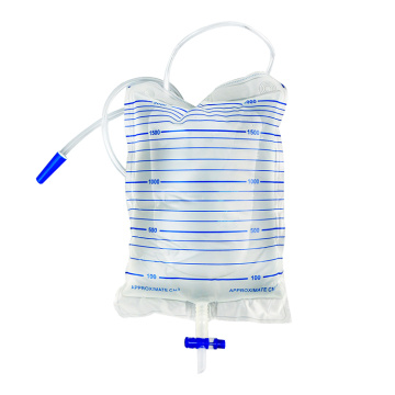 Disposable 2000ml Urine Bag with T valve