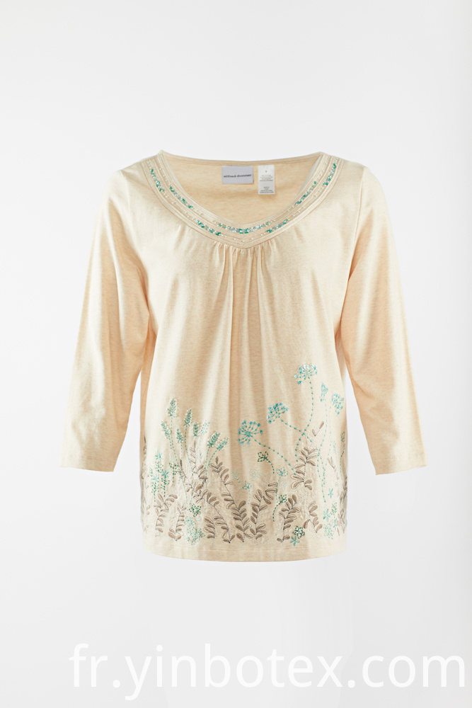 cotton knitting long T shirt
