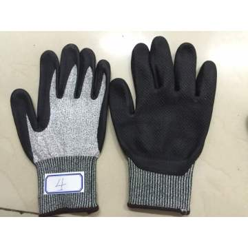 Heather Gley Nitrile Palm Coated Super Fine Foaming Finished HDPE Gloves