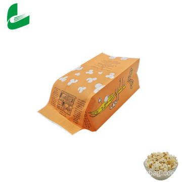Kraft greaseproof paper microwavable bag for popcorn