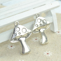 6 pcs Antique Silver Plated Zinc Alloy mushroom Charms Pendants for Jewelry Making DIY Handmade Craft 41*29*4 mm 1935I