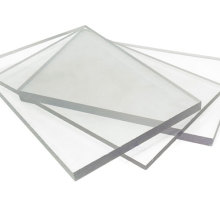 Abrasion resistant transparent solid sheet polycarbonate