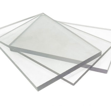 Abrasion resistant transparent solid polycarbonate panel