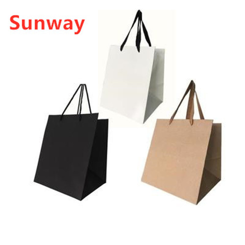 Square bottom kraft paper bag