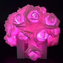 LED Pink Rose Bunga String Lights