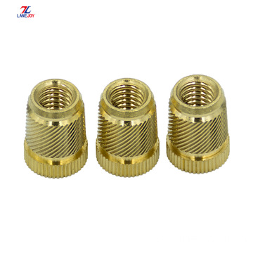 high quality customized knurled brass thread insert nut
