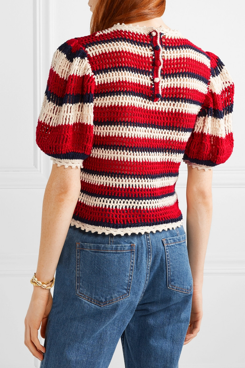 Loose Pullover Crochet Sweater
