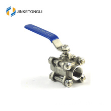 JKTL3B023 cf8m 1000 wog 3pc forged mini ss316 ball valves for water