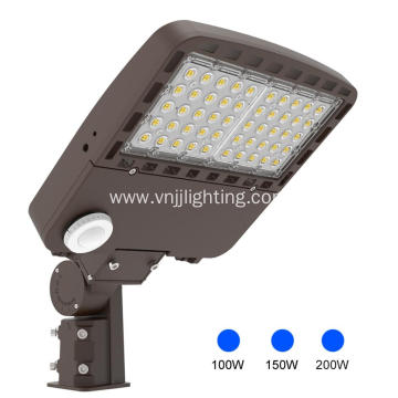 Outside LED Shoebox Area Light 100W  Lot Lights