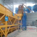 Small simple concrete mixing plant Philippines HZS50
