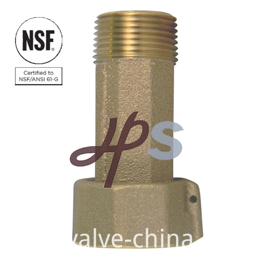 Lead Free Brass Or Bronze Forging Straight Meter Coupling Tailpiece