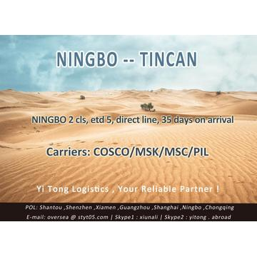 Ningbo Sea Freight to Tincan