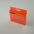 Red plastic soft crease folding box with silk printing