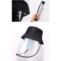 Against virus snapback bucket hat protective mask