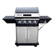 4-Burner Nature Gas BBQ  with Side Burner