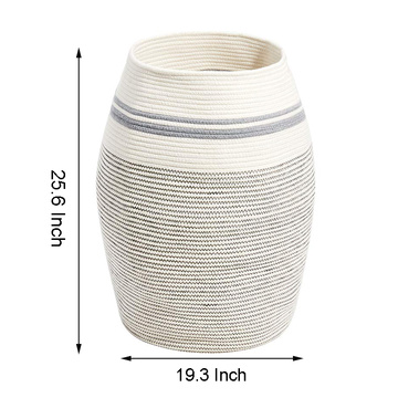 Extra Large Cotton Rope Basket Tall Laundry Hamper