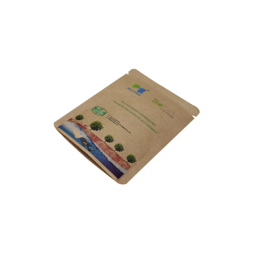 compostable biodegradable PLA flat bag for food
