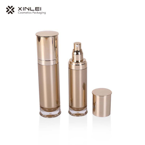 silver cosmetics makeup essential oil  pump bottle