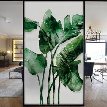 Custom Size Glass Film Static Cling Flamingo Plants Pattern Home Decoration Vinyl Anti-UV Reusable Removable Tint-FIlm 40cmx80cm