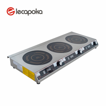 220V 3KW 3 Burners Induction Cooker  Commercial