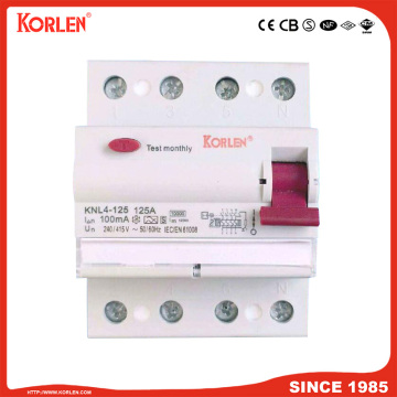 Residual Current Circuit Breaker KNL4-125 125A CE 2P