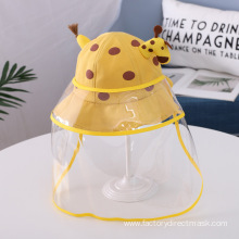 Yellow Giraffe Anti-droplet Hat for Children
