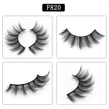 wholesale 5 pairs natural long thick false eyelashes, 3D fake mink eyelashes