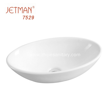 White Ceramic Bathroom Wash Basins Vessel Sink