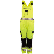 Hi Vis Safety Warm Winter Bib Pants