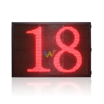 P10 red green countdown timer led display