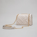 White Messenger Bag Women's Designer Crossbody Strap