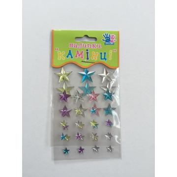 star shape adhersive gem stone sheet