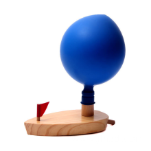 Wooden Balloon Toy Boat Power Water Educational Toys