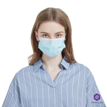 Promotional Durable Disposable  3-Ply Non-woven Mask